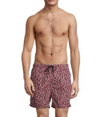 solid and striped men's the classic floral swim shorts - pink floral - size l