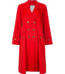 chanel pre-owned 1994 cashmere double-breasted flared coat