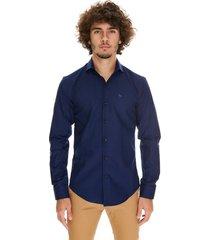 camisa azul crow maine classics