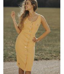 sukienka ze złotymi guzikami sunny