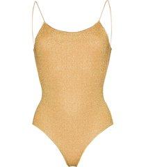 oséree lumière lurex swimsuit - gold