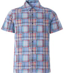 paul smith patchwork check vacation shirt | green | 114r-f21221