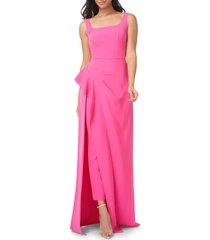 women's kay unger reagan maxi romper, size 14 - pink