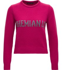 alberta ferretti bohemian pink sweater