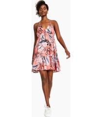 bar iii printed ruffled-hem dress, created for macy's