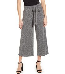 bobeau rib knit crop pants, size small in graphite at nordstrom