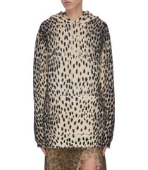 oversized cheetah print hoodie