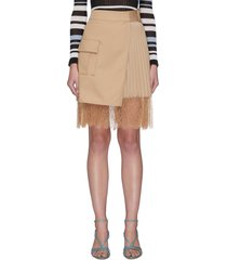canvas wrap mini skirt