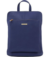tuscany leather tl141682 tl bag - zaino donna in pelle morbida blu scuro