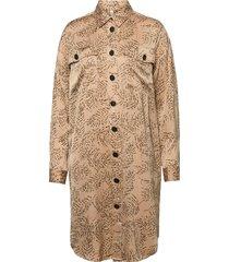 pzhelen dress knälång klänning guld pulz jeans