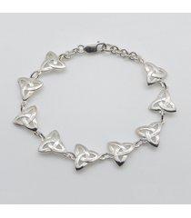 silver trinity knot bracelet