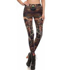 steampunk mechanical gear leggings