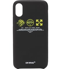 off-white logo prints iphone case - black