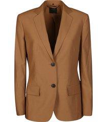 agnona brown wool blazer