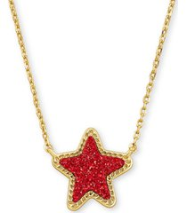 "kendra scott rock crystal star pendant necklace, 17"" + 2"" extender"