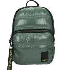 mochila toy classic metalizado verde bubba bags