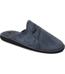 textile pana slippers tofflor blå hush puppies
