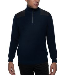kenneth cole men's quarter-zip ribbed knit sweater