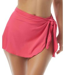 coco reef contours halo sarong swim skirt women's swimsuit