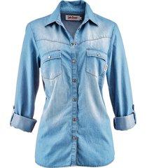 camicia di jeans a maniche lunghe (blu) - john baner jeanswear