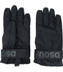 dsquared2 logo strap ski gloves - black