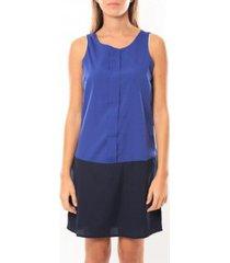korte jurk vero moda neje sl short dress 10100937 bleu/noir