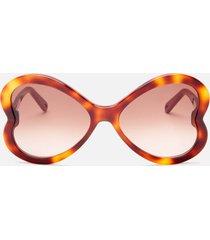 chloé women's bonnie acetate sunglasses - havana/brown