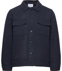 hacienda jacket wollen jack jack blauw makia