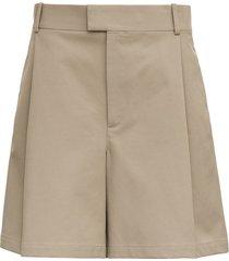 bottega veneta beige cotton bermuda shorts