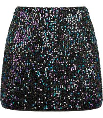 curve sequin mini skirt