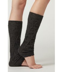 calzedonia geometric design leg warmers woman black size tu