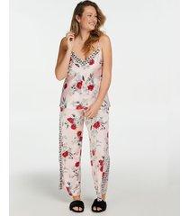 hunkemöller azelea pyjamasbyxor i satin rosa