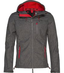 hooded windtrekker tunn jacka grå superdry