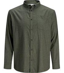 plus size overhemd gemêleerd