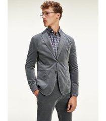 tommy hilfiger men's flex slim fit blazer armour grey - 44