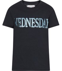 alberta ferretti blue girl t-shirt with light blue writing