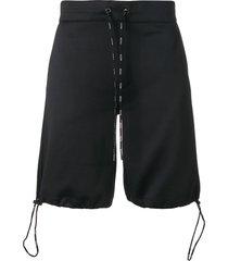valentino vltn jersey bermuda shorts - black