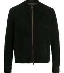 ajmone long sleeve zipped jacket - black