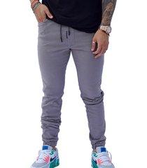 pantalón jogger gris claro hombre manpotsherd