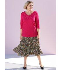 plisserad kjol m. collection svart