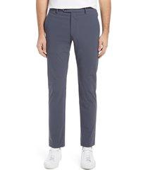 men's zanella men's active stretch flat front pants, size 36 x - grey