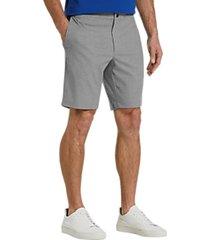 joe joseph abboud gray slim fit shorts