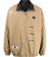 aape by *a bathing ape® reversible graphic-print bomber jacket - brown