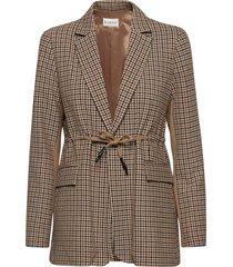 lora long blazer blazers casual blazers brun blanche