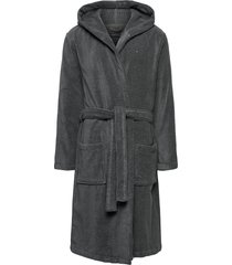hooded bathrobe ochtendjas badjas grijs tommy hilfiger