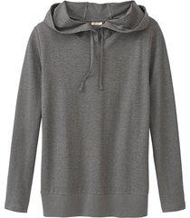 capuchon-shirt, grijs 40