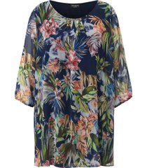 blouse 3/4-mouwen van via appia due blauw