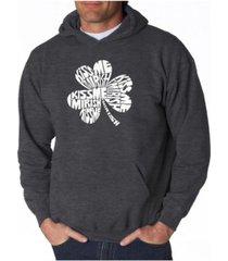 la pop art men's word art hooded sweatshirt - kiss me i'm irish