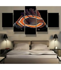5 panels chicago bears gloves canvas prints painting wall art picture home decor