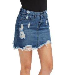 más el tamaño de falda de mezclilla mini shorts una línea falda de